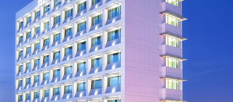 Façade Hotel HF Ipanema - Porto en panneaux composites